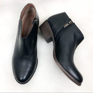 NEW Lucky Brand Leather Ankle Booties